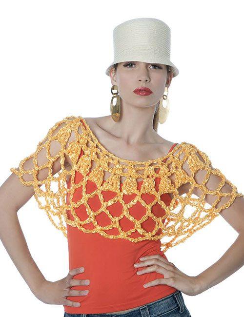 accesorio de seda a crochet