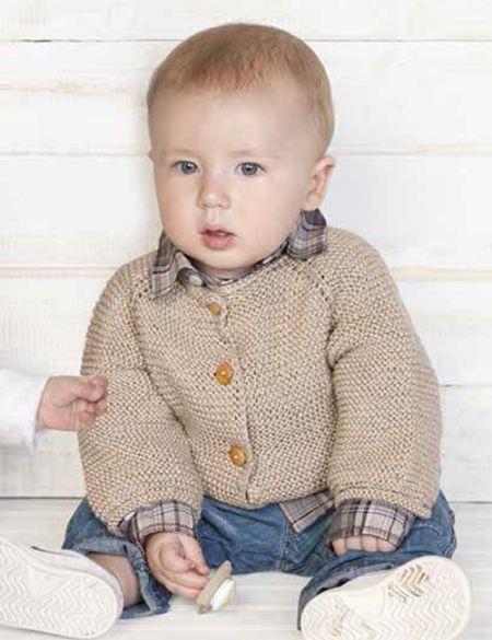 chaleco bebe beige básico