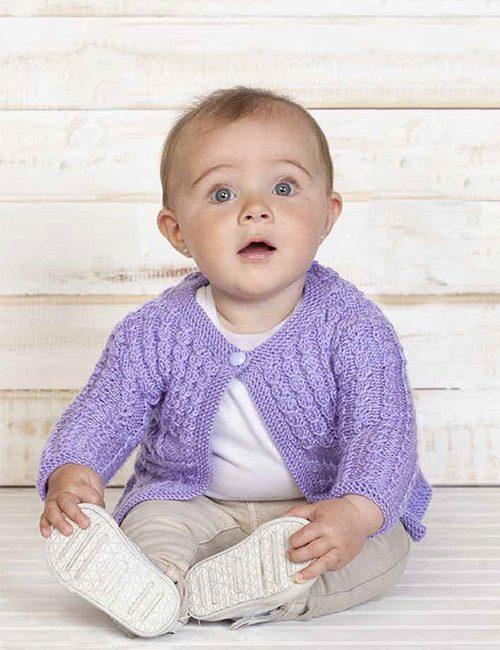 chaleco bebe lila