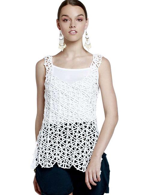 blusón blanco a crochet