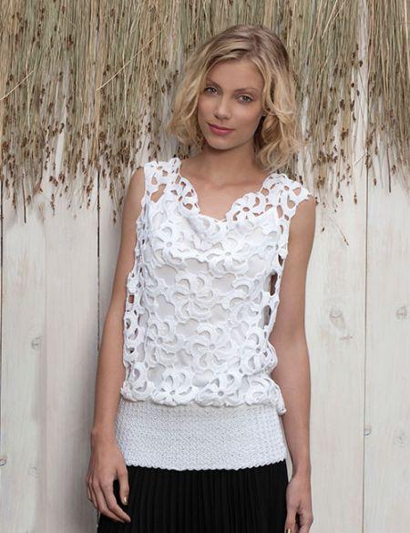 blusón elegante a crochet
