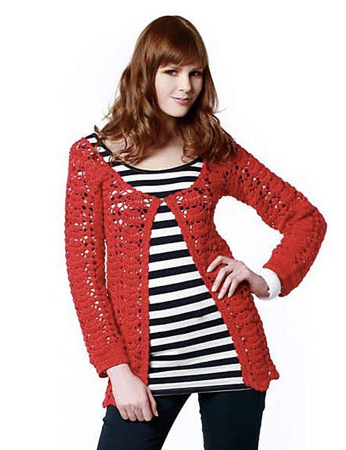 chaleco rojo a crochet