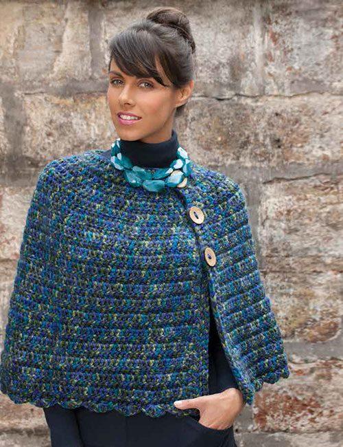 capa a crochet con botones