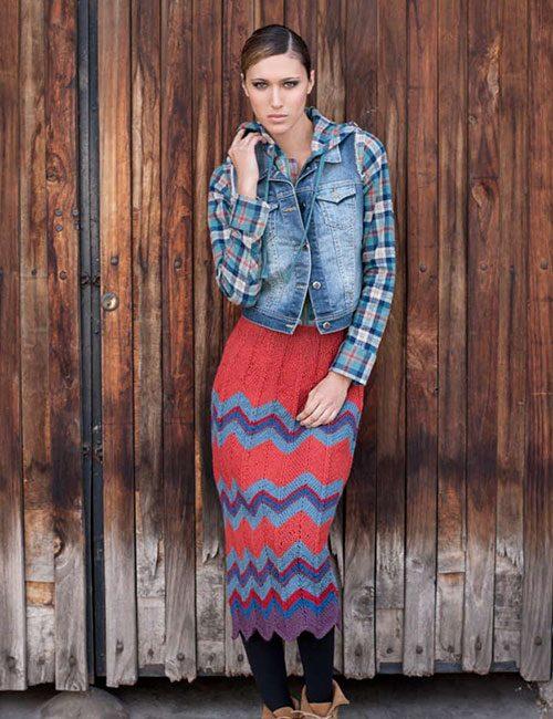falda colores a palillo
