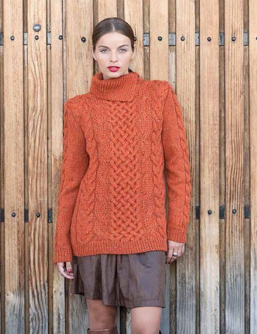 sweater naranjo irlandés