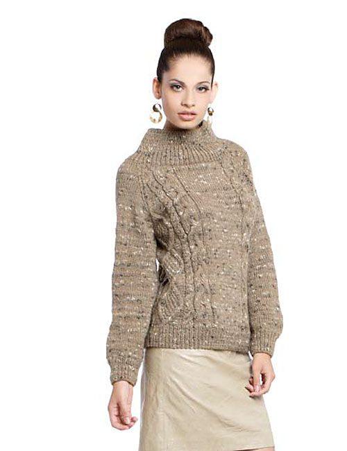 sweater tweed a palillos