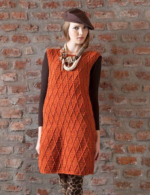 vestido de lana a crochet