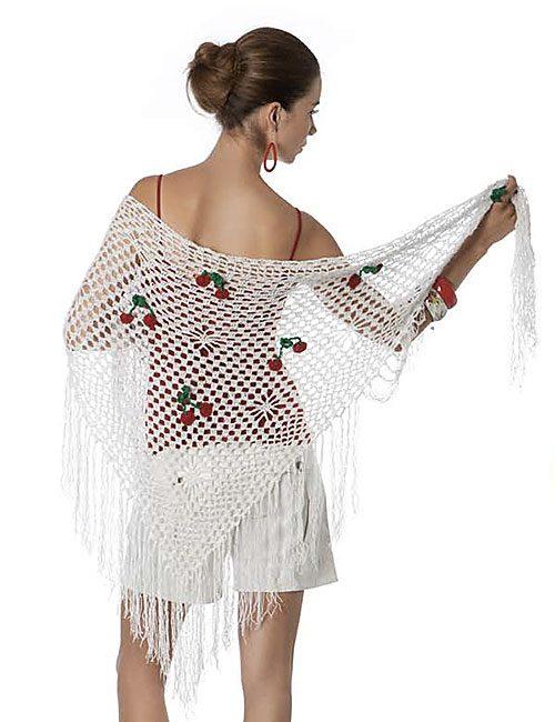 mantilla guindas a crochet