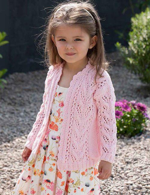 chaleco niña rosado de algodón
