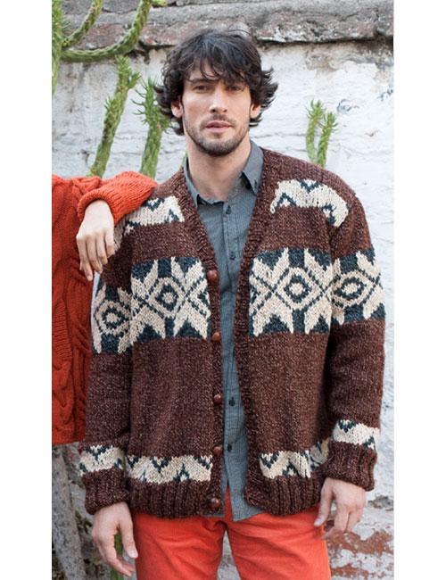 patron de tejido chaleco de hombre