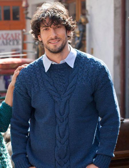patrón de tejido chaleco de hombre