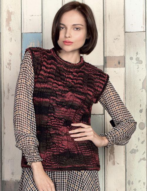 punto y moda Sweater sin mangas matizado