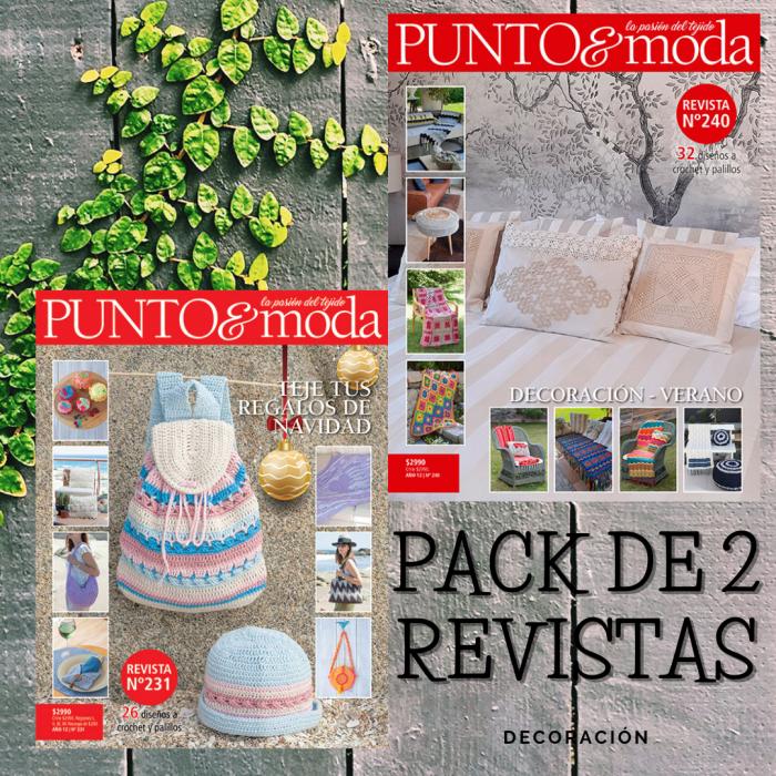 pack revistas de tejido Punto y Moda