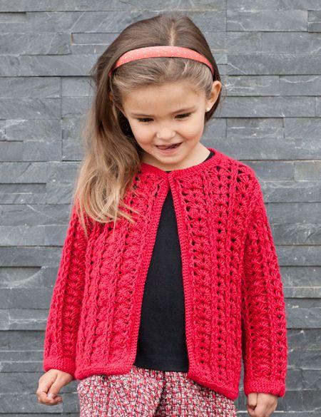 patrón de tejido a crochet para niña