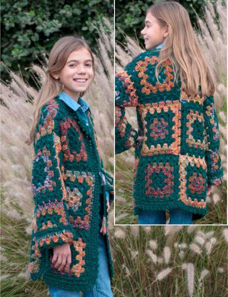 patron de tejido a crochet para niña