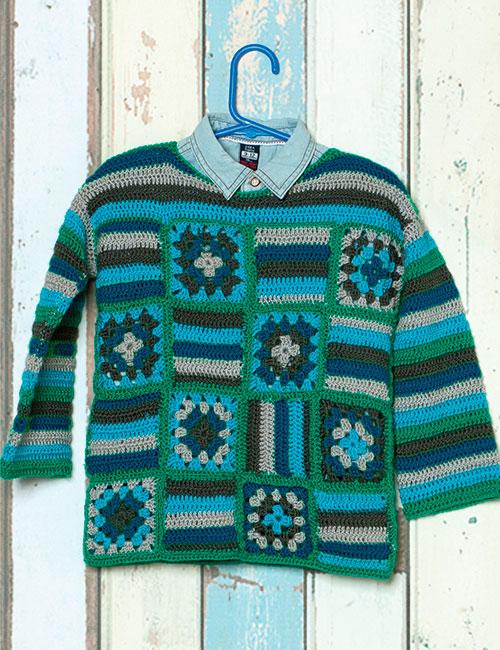 patrón de tejido a crochet