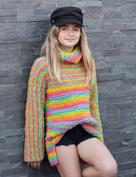 Sweater largo multicolor