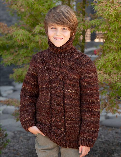 sweater cuello alto con trenza